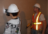 A Northern Opportunities program participant gains valuable construction experience.