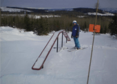 The Mount Timothy Freestyle Zone boasts jumps and rails that are popular among youth