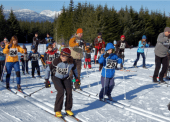 A friendly race kicks off at the Onion Lake Ski Trails!