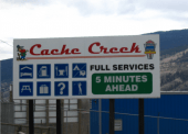 New billboards on Highway 97 North and Highway 99 attracts travellers to visit Cache Creek.